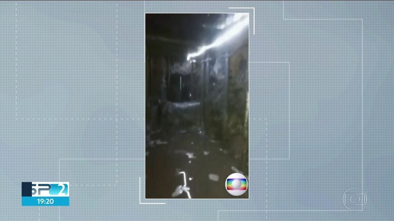 Imagens exclusivas mostram último trecho do túnel, que ligava a galeria de águas ao BB