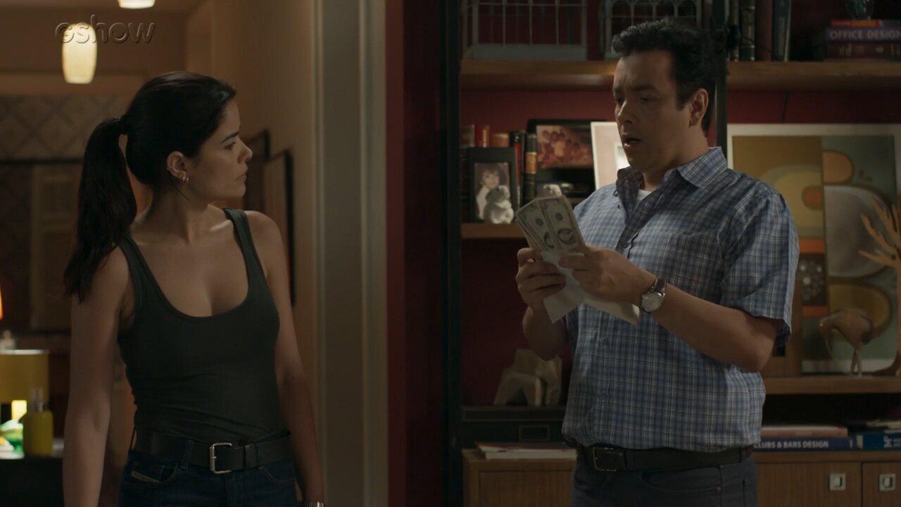 Teaser 'Pega Pega' 6/10: Nelito recebe dólares e Antônia conclui que Sandra Helena enviou