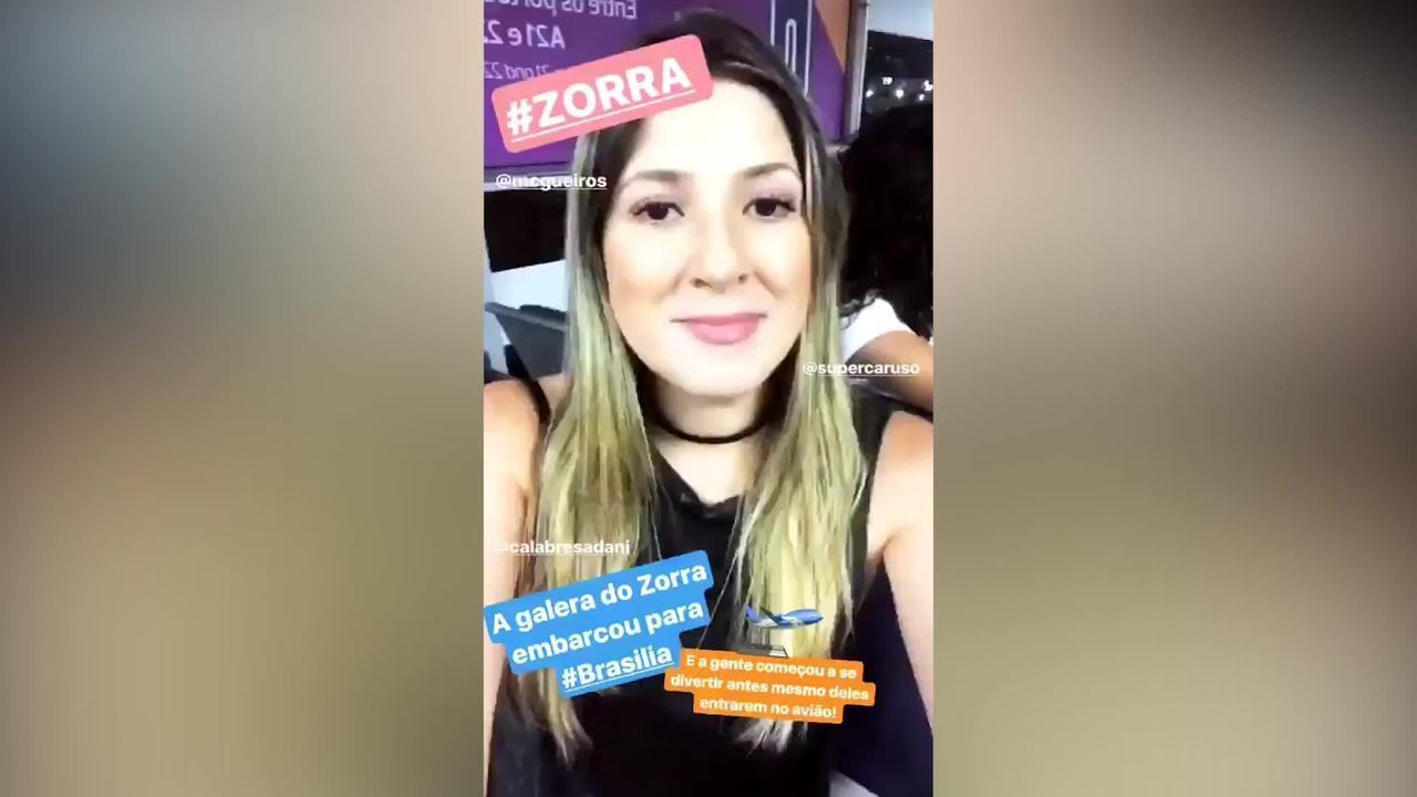 Dani Calabresa, Fernando Caruso, Welder Rodrigues e Maria Clara Gueiros gravam 'Zorra' em Brasília