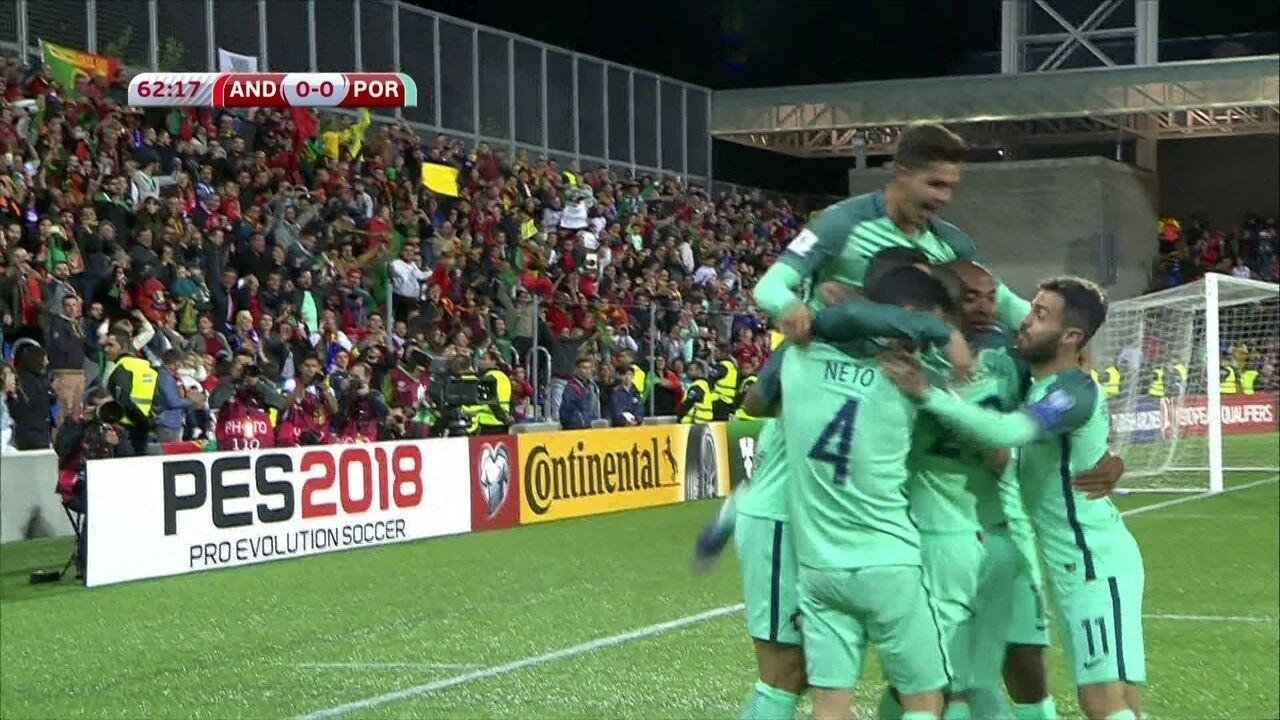 514e435fe0 Os gols de Andorra 0 x 2 Portugal pelas Eliminatórias Europeias da Copa 2018