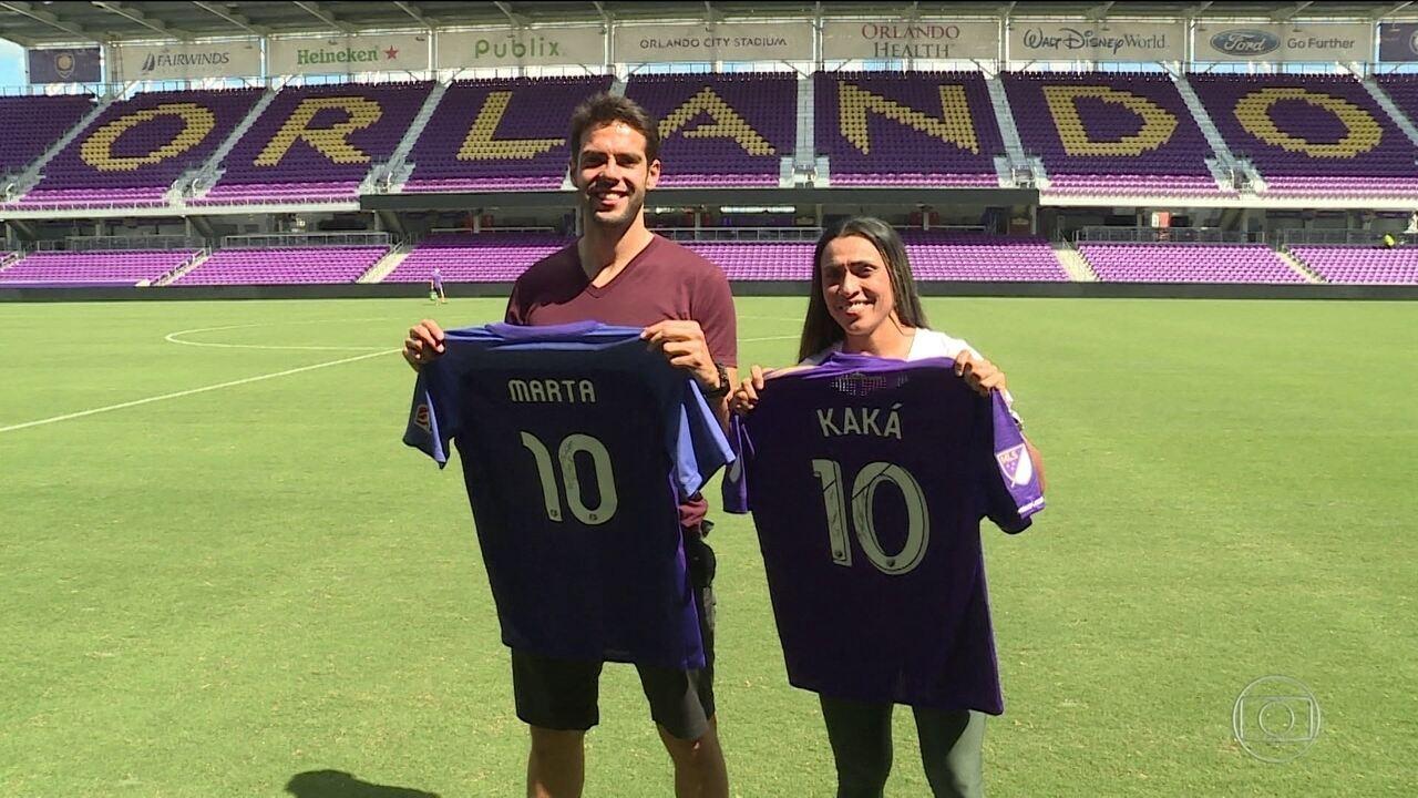 Esporte Espetacular: Kaká e Marta são camisa 10 e sensação no Orlando City