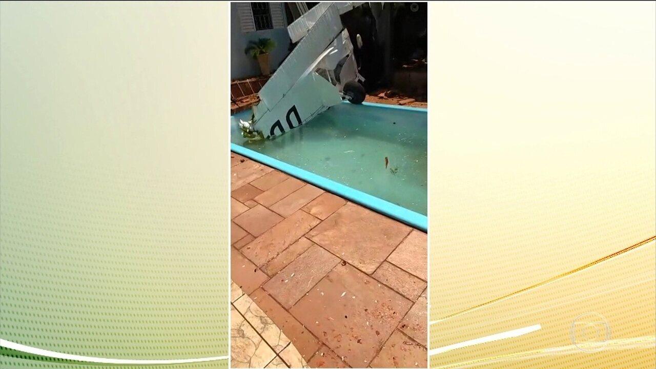 Três pessoas morrem na queda de um avião em São José do Rio Preto (SP)