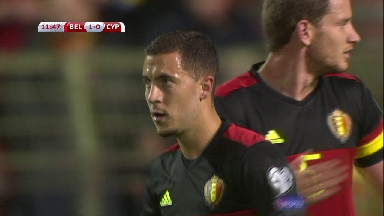 Os gols de Bélgica 4 x 0 Chipre pelas Eliminatórias europeias para a Copa do Mundo de 2018