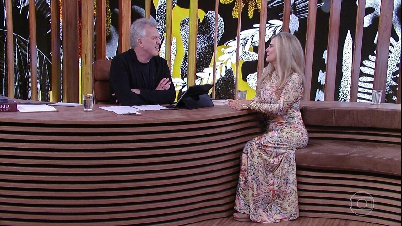 Bruna Lombardi fala sobre série de TV e trabalho com o filho