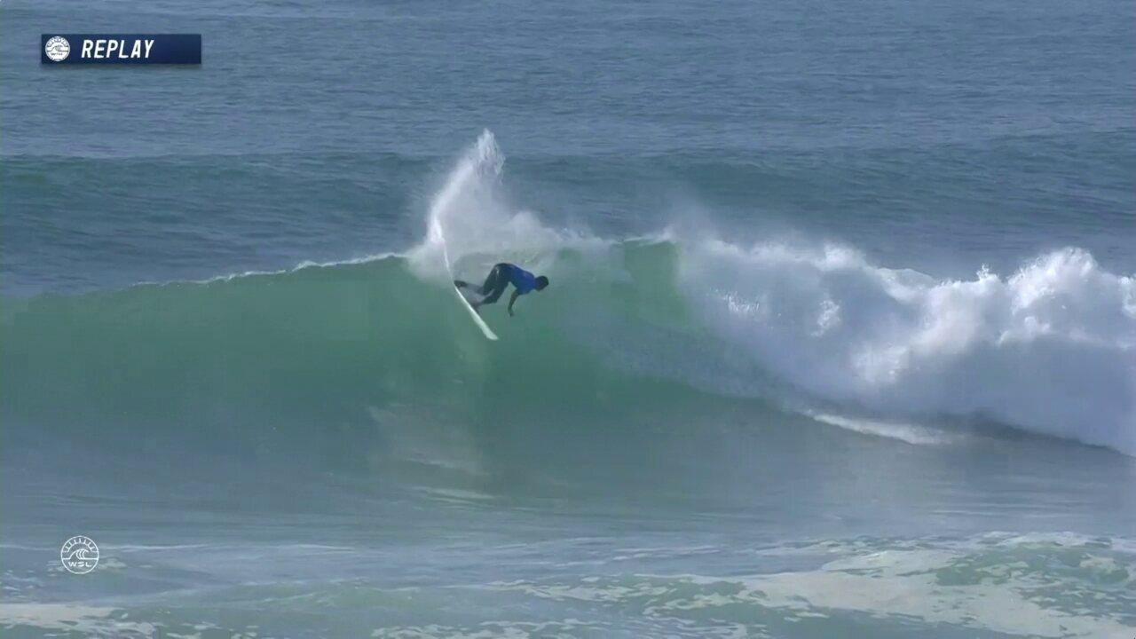 Miguel Pupo tira um 6,0 contra Filipinho na etapa da França do Mundial de Surfe