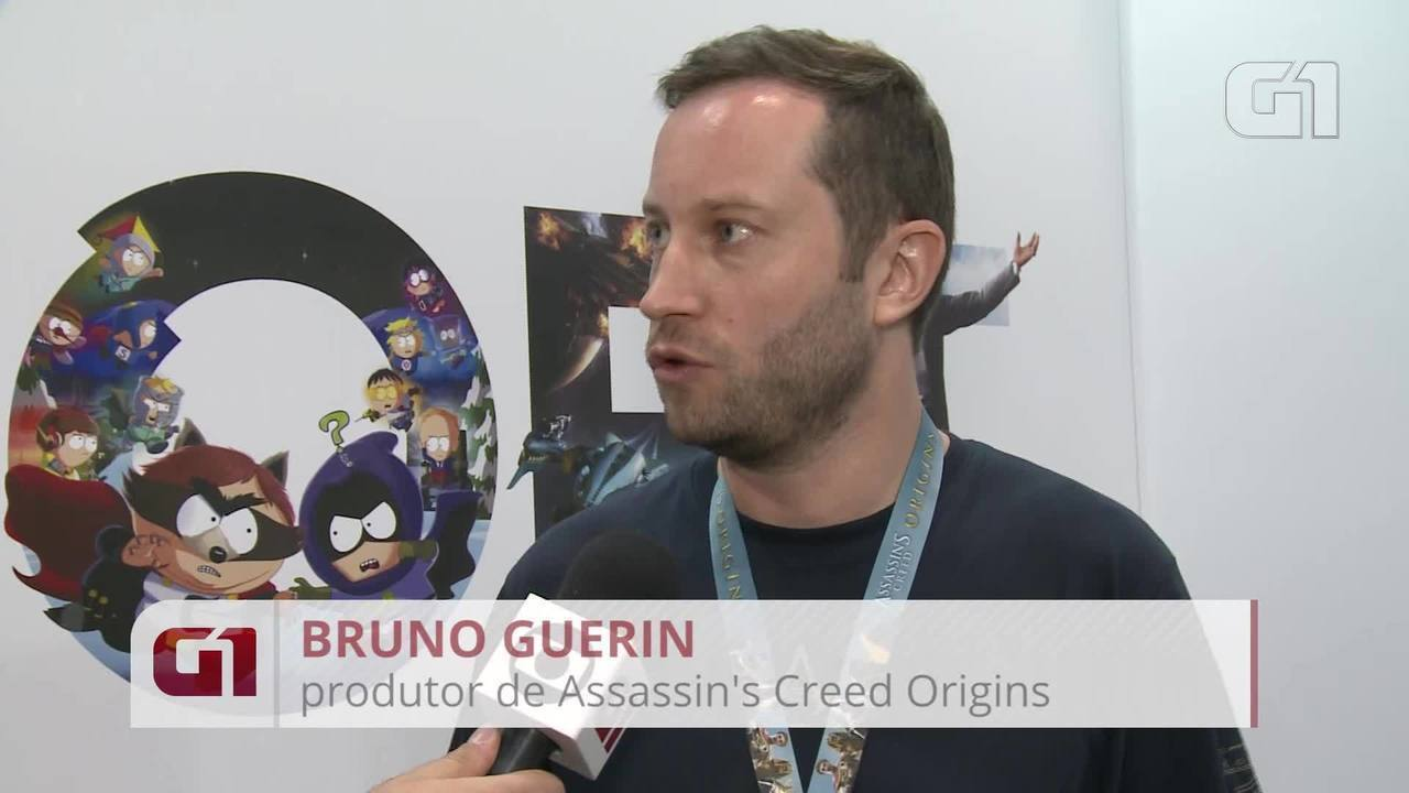 Bruno Guerin, produtor de 'Assassin's Creed Origins', comenta novidades do game