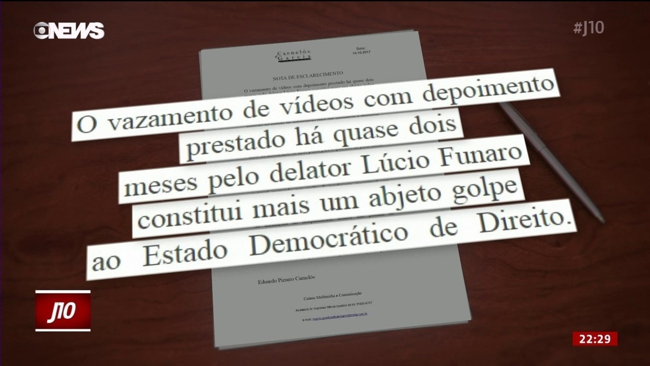 Defesa de Temer divulga nota sobre vídeos com depoimentos de Funaro