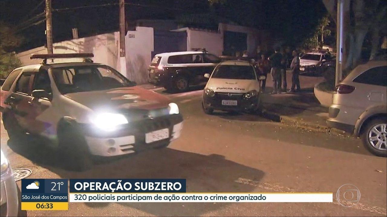 Trezentos e vinte policiais participam de ação contra o crime organizado em SBC