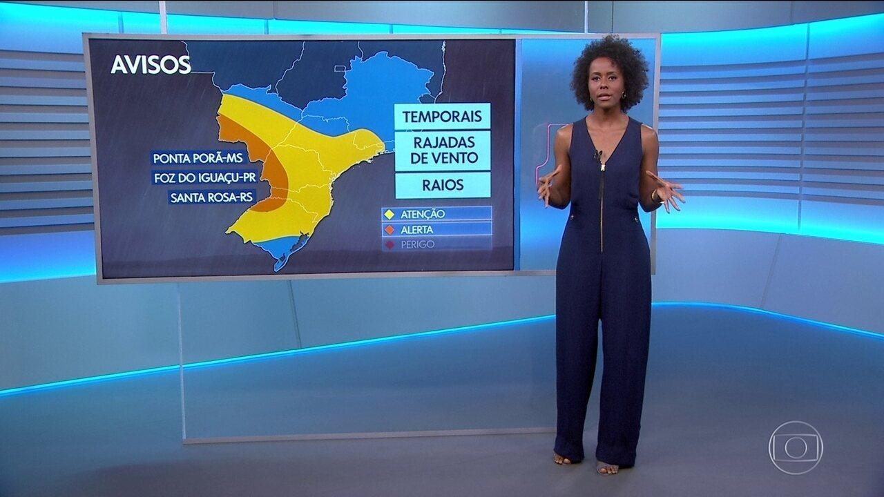 Veja a previsão do tempo para sexta-feira (20) no Brasil