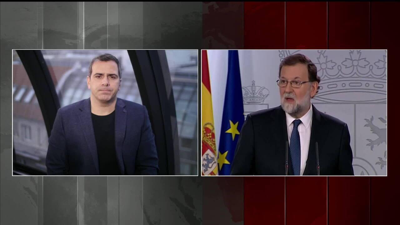 Primeiro-ministro espanhol quer autorização para destituir o governo regional da Catalunha