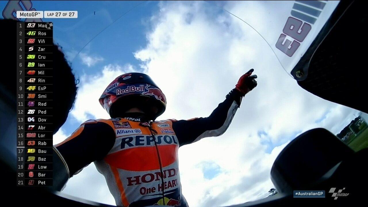 Marc Marquez vence o MotoGP da Austrália com Rossi em segundo