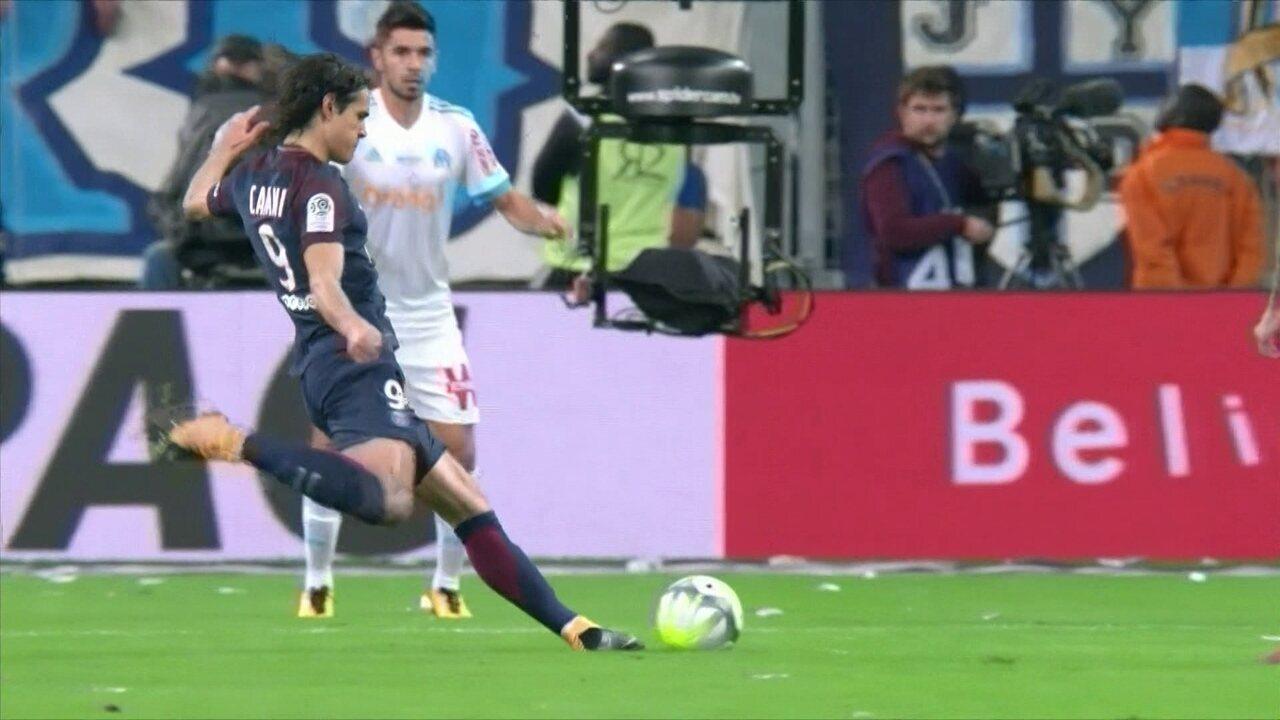 No turno do Francês, PSG e Olympique empataram por 2 a 2, em Marselha