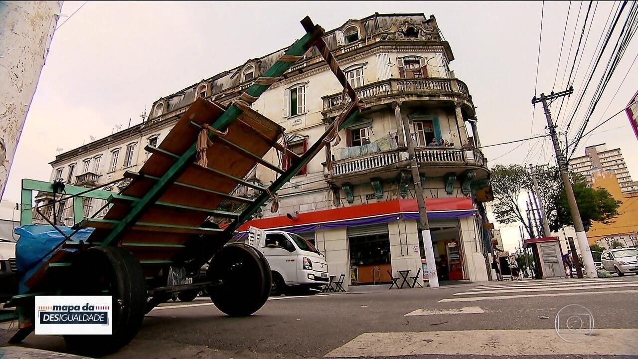Região Central de São Paulo tem muita pobreza e é reduto de imigrantes