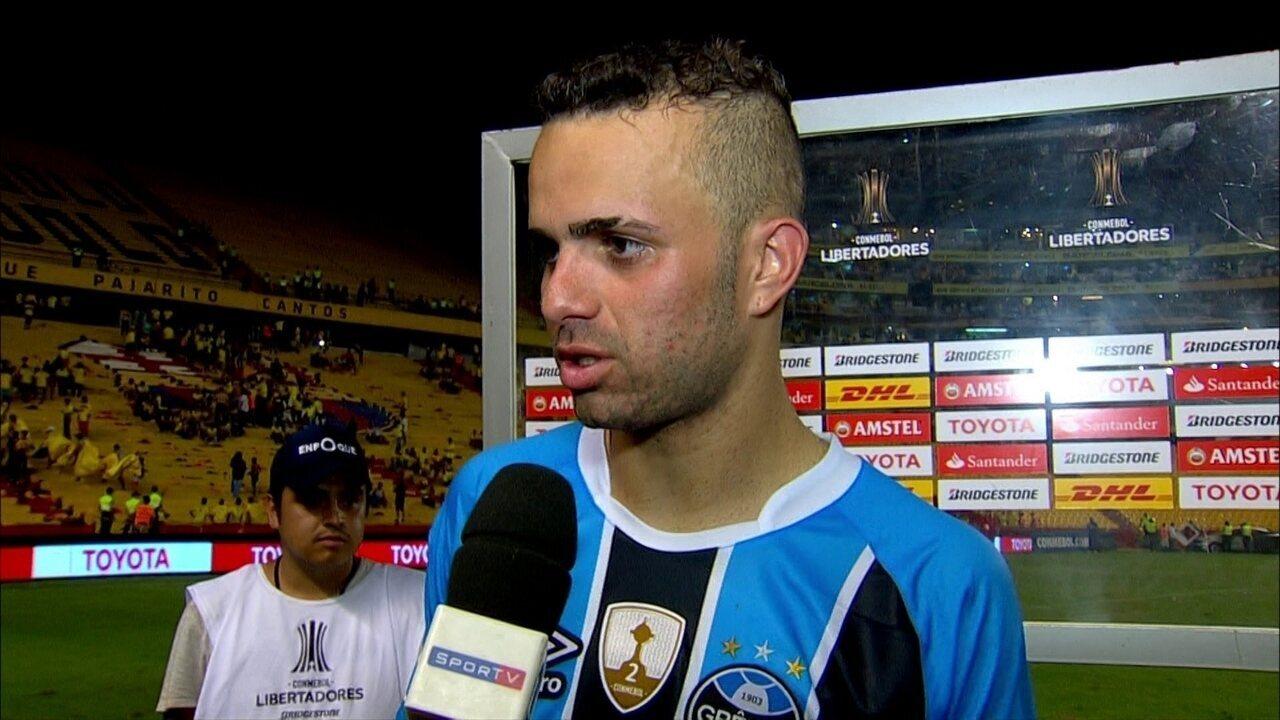 Luan diz que Grêmio prevaleceu sobre Barcelona-EQU e destaca o gol logo no início de jogo