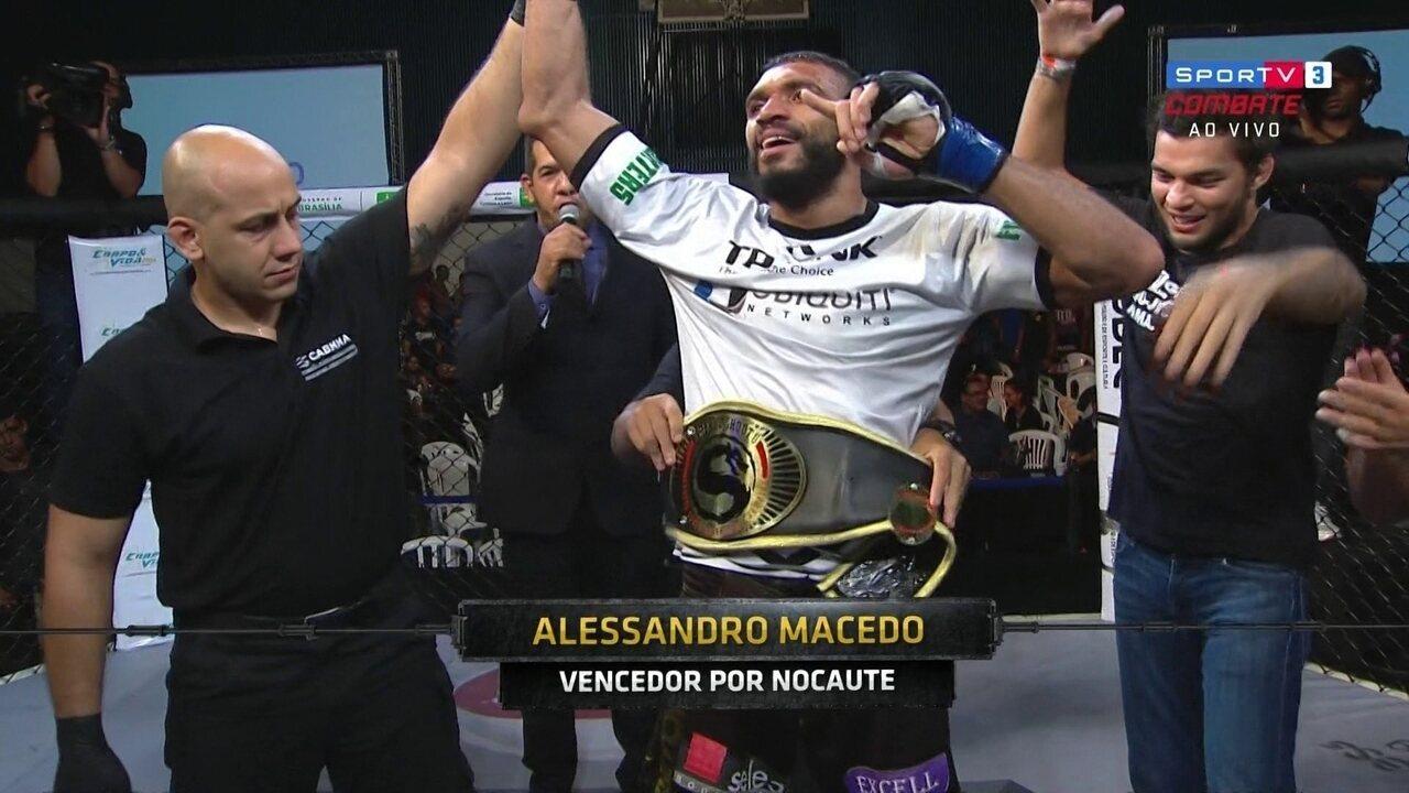 Com nocaute espetacular, Alessandro Macedo se sagra campeão dos super médios do Shooto 77