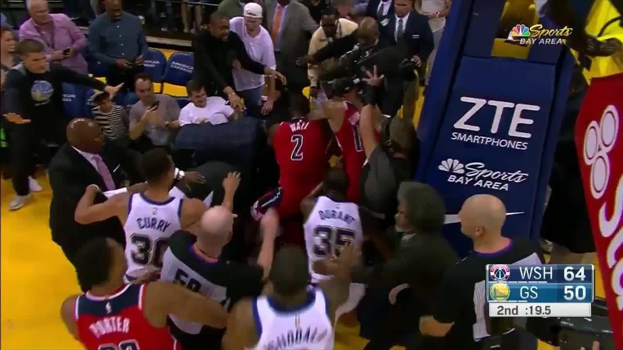 Veja briga entre Draymond Green e Bradley Beal no jogo entre Warriors e Wizards pela NBA