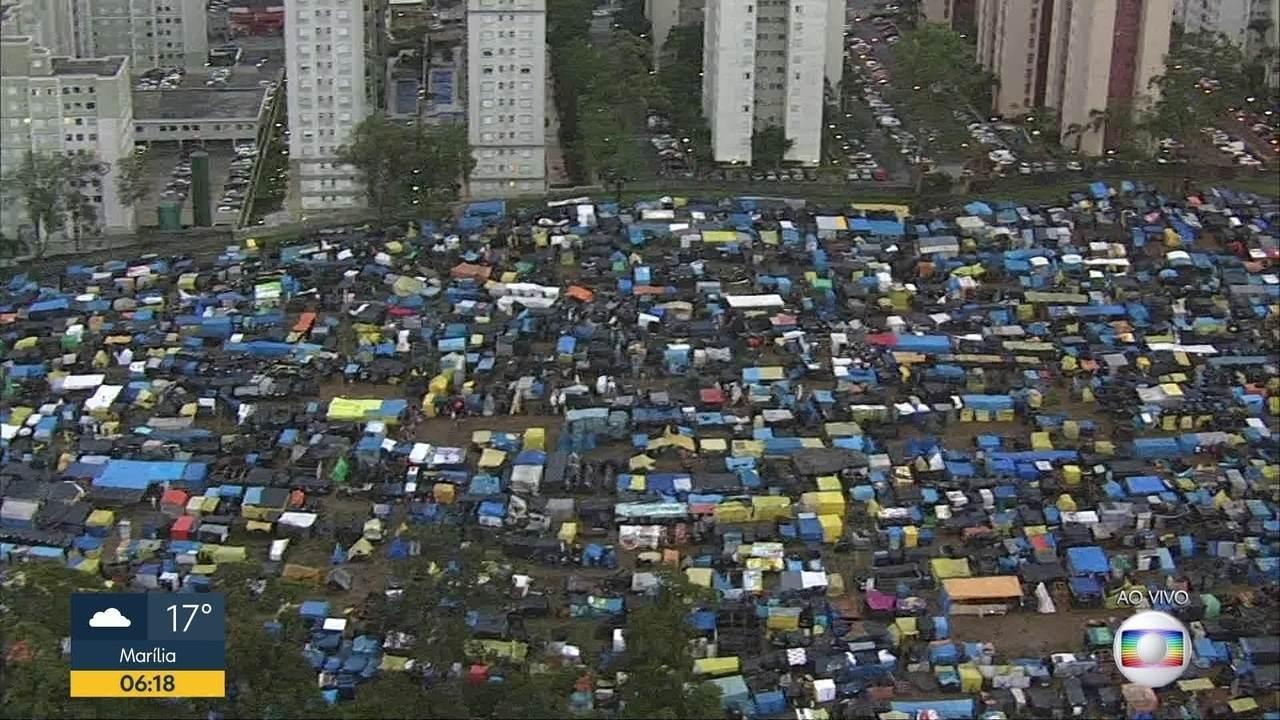 Ocupantes do Movimento dos Trabalhadores Sem Teto (MTST) continuam acampados em SBC