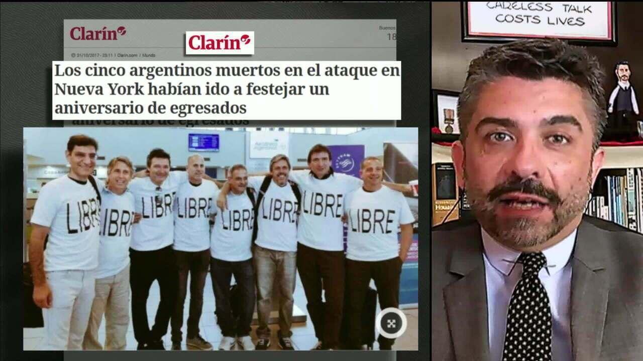 Argentinos mortos em atentado de Nova York comemoravam 30 anos de formados