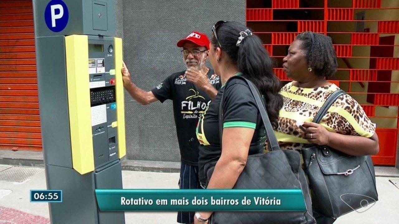 Estacionamento rotativo começa a funcionar em mais dois bairros de Vitória
