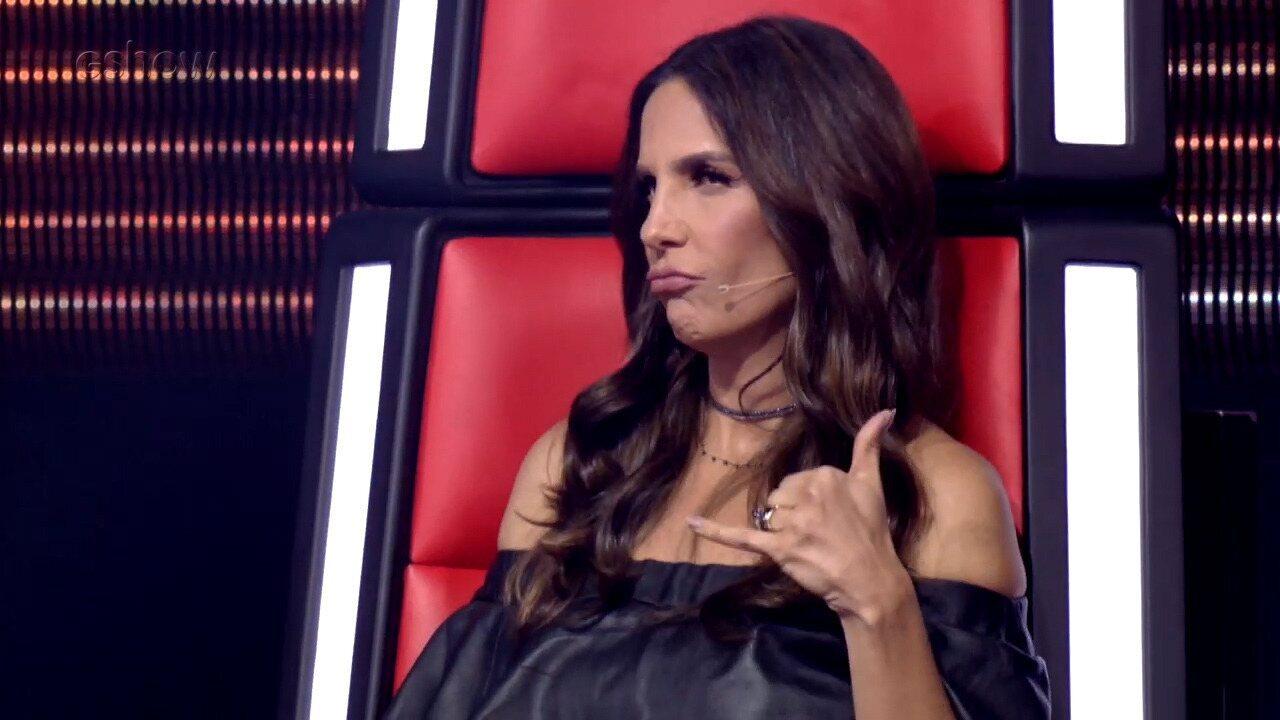Ivete Sangalo manda indireta ao marido no The Voice: