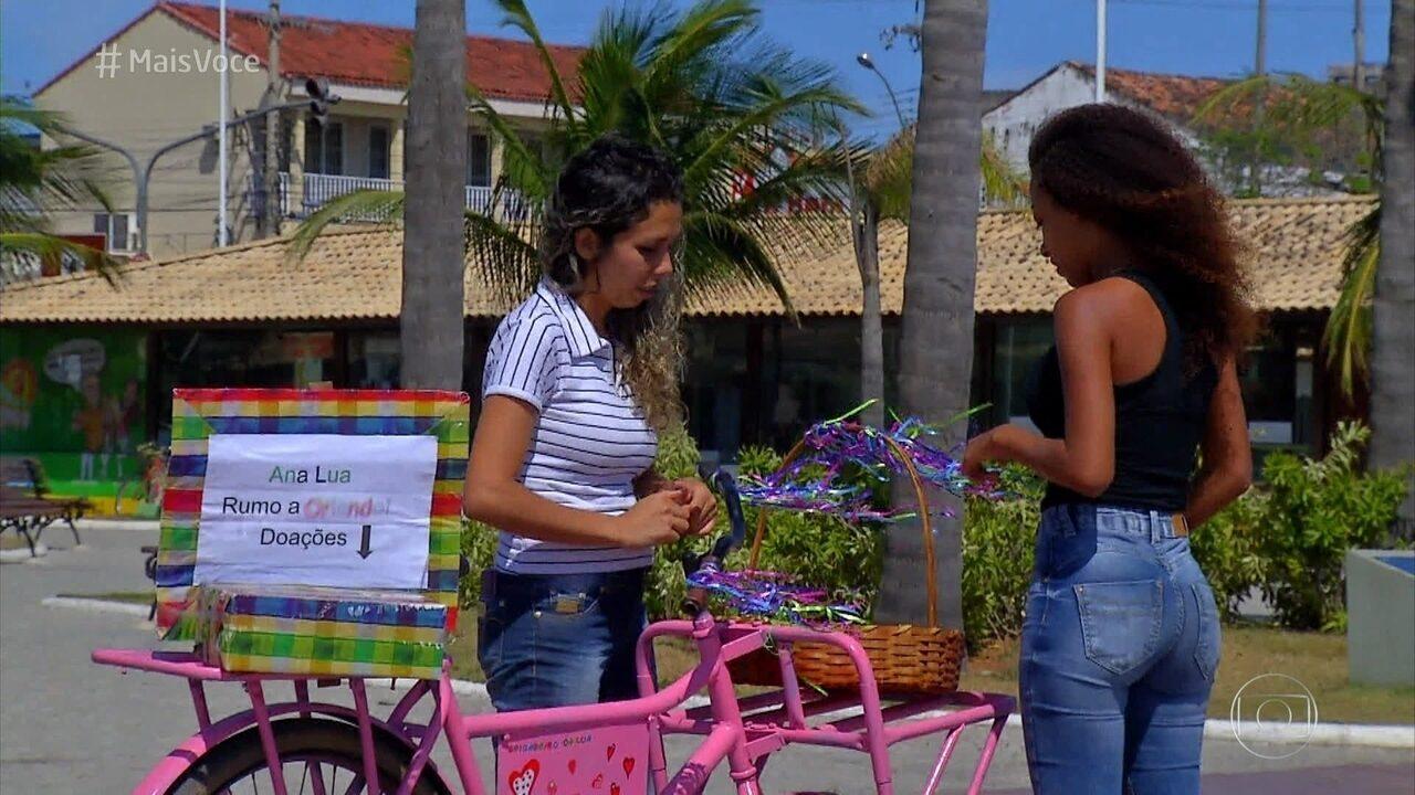 Nadiane começou a vender brigadeiros para custear viagem da filha