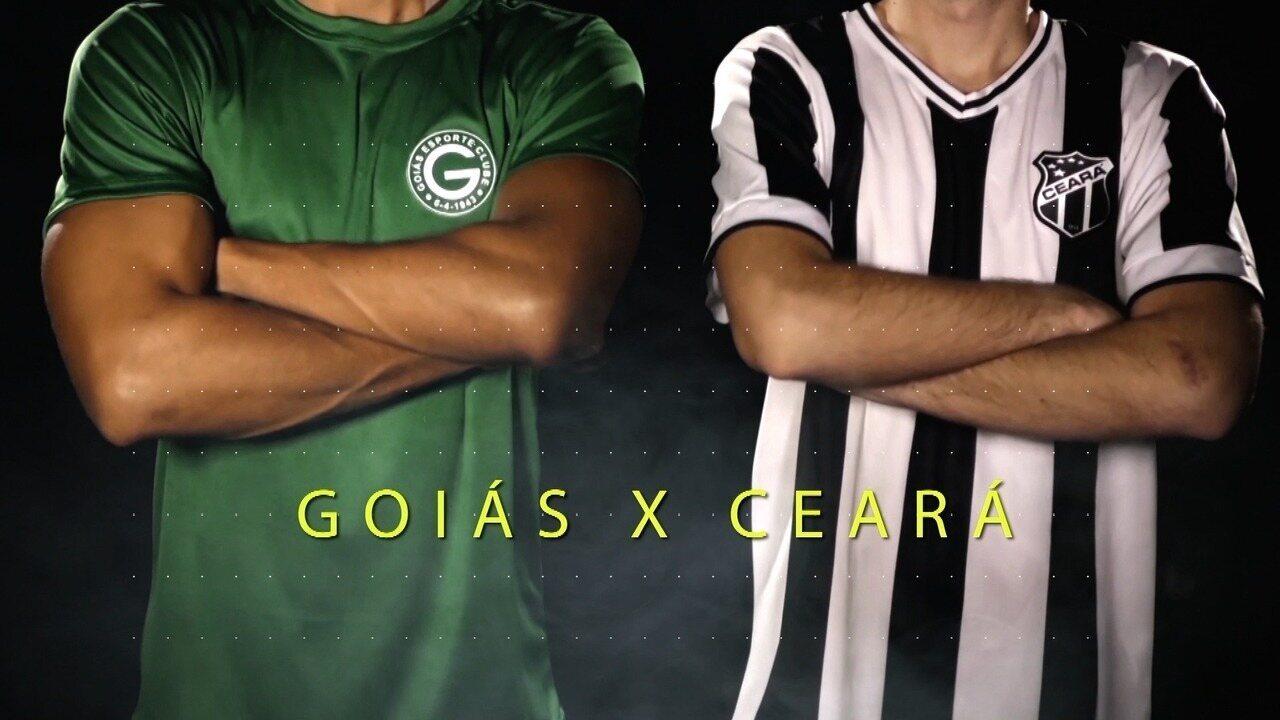 Chamada para a transmissão de Góias x Ceará pelo Brasileirão Série B 2017