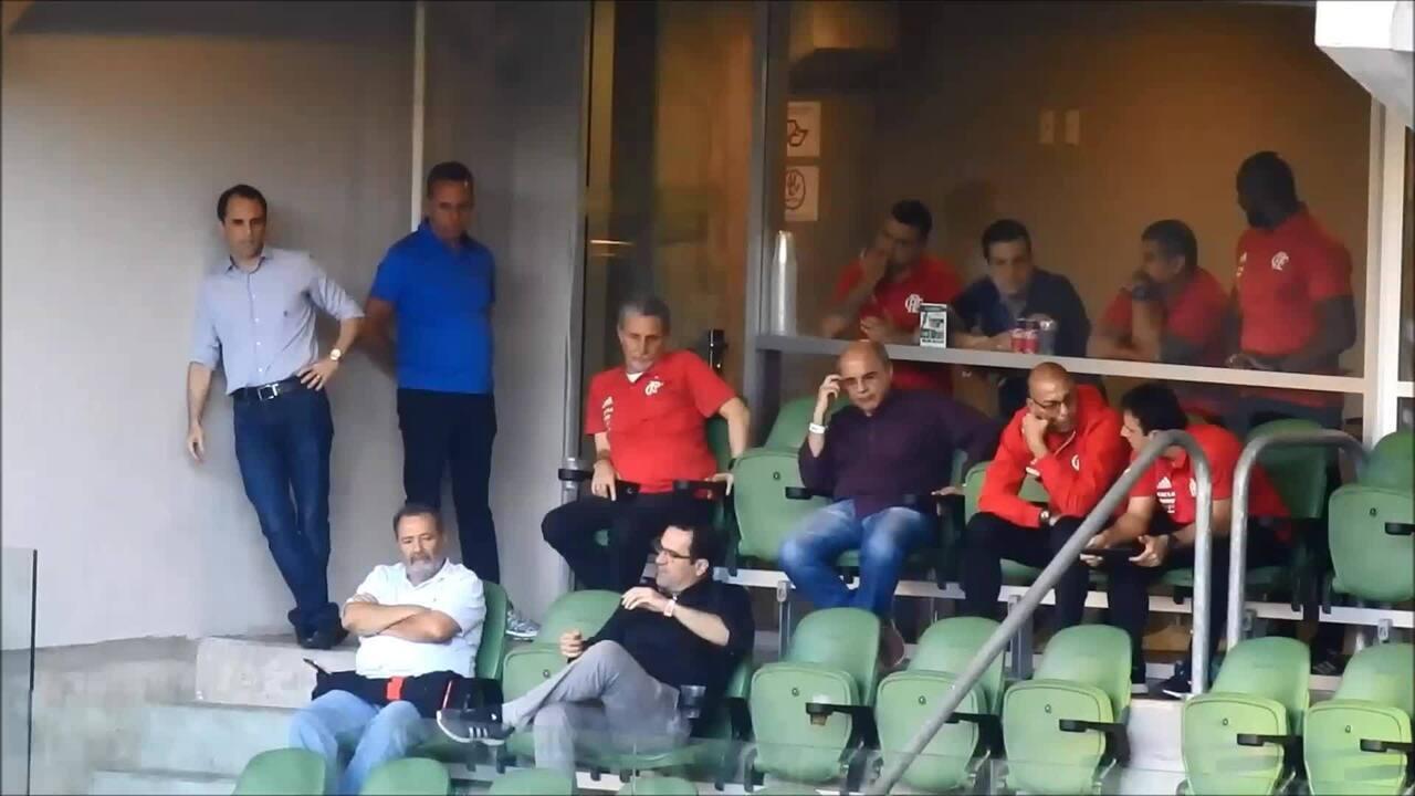 Camarote da diretoria do Flamengo na Arena do Palmeiras