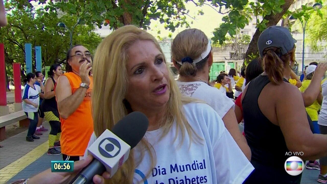 Ações no Recife alertam para prevenção e tratamento da diabetes