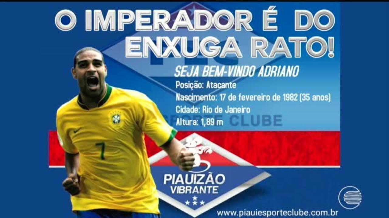 ASSISTA  notícia de que Adriano Imperador jogaria no Piauí é boato 66b96f9172c09