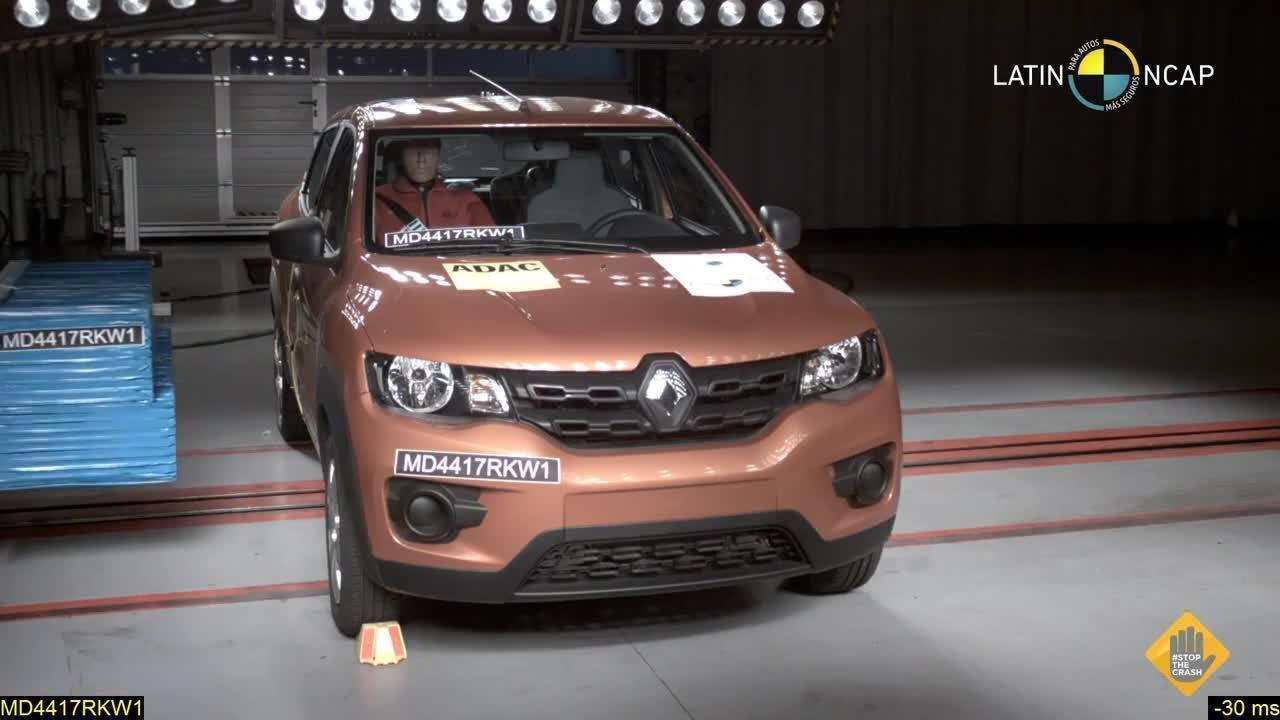 Renault Kwid leva 3 estrelas no teste de colisão do Latin NCap