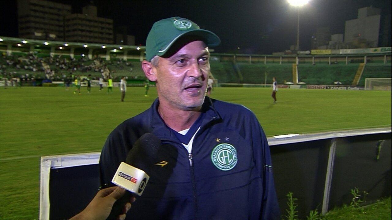 Lisca vibra muito ao salvar Guarani do rebaixamento para a Série C