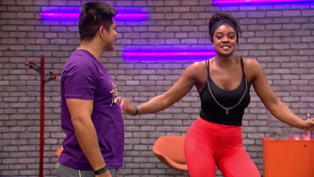 Cris Vianna nos ensaios do 'Dança 2017'