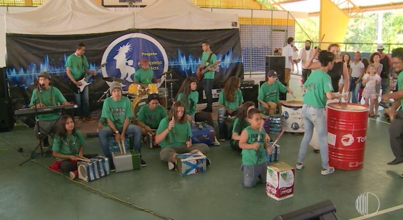 Bate Lata: música, reciclagem e arte educação em uma só banda de Santa Isabel