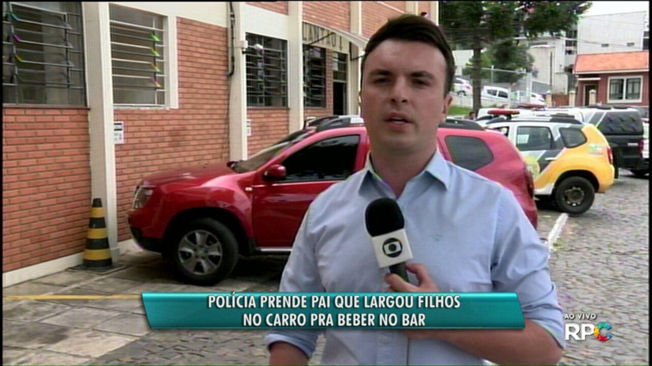 Pai deixa filhos no carro, vai beber no bar e é detido pela polícia