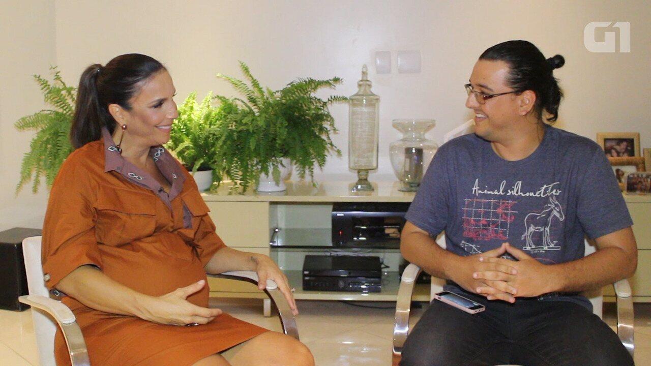 Grávida de gêmeas, Ivete Sangalo fala sobre expectativas para show no Festival de Verão