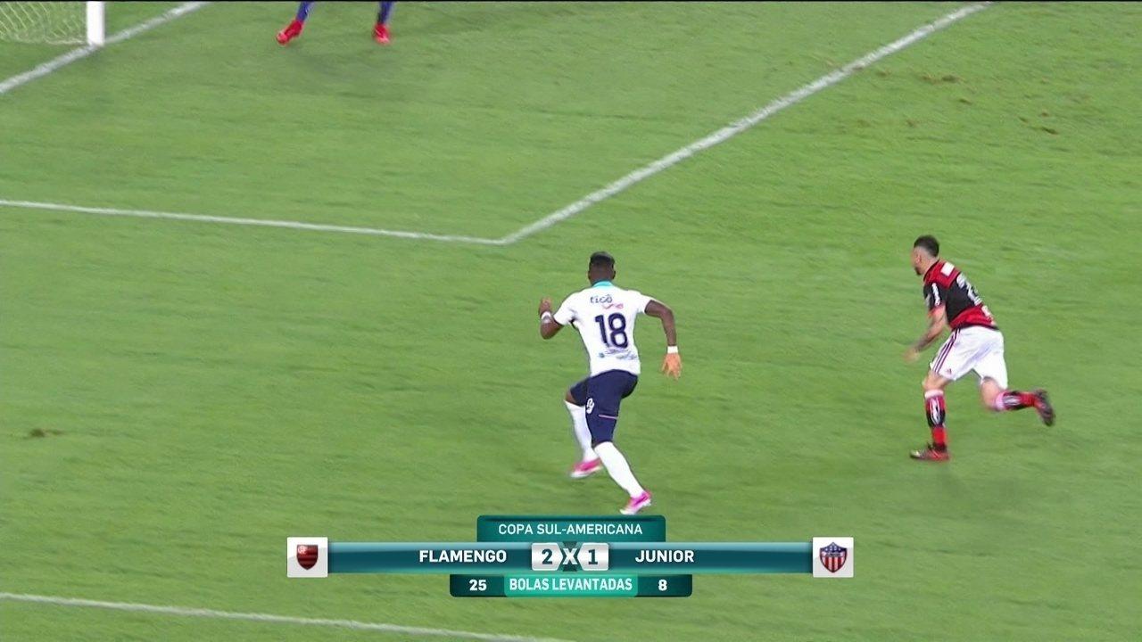 Veja os melhores momentos do Flamengo 2 x 1 Junior Barranquilla pela Copa Sul-Americana