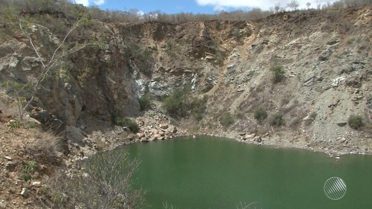 Mina desativada há 50 anos ainda traz risco à população de Bom Jesus da Serra, no sudoeste