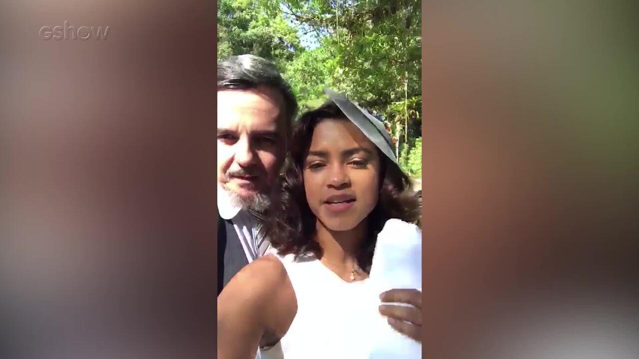 Lucy Alves mostra locação da primeira vez de Reinaldo e Eunice