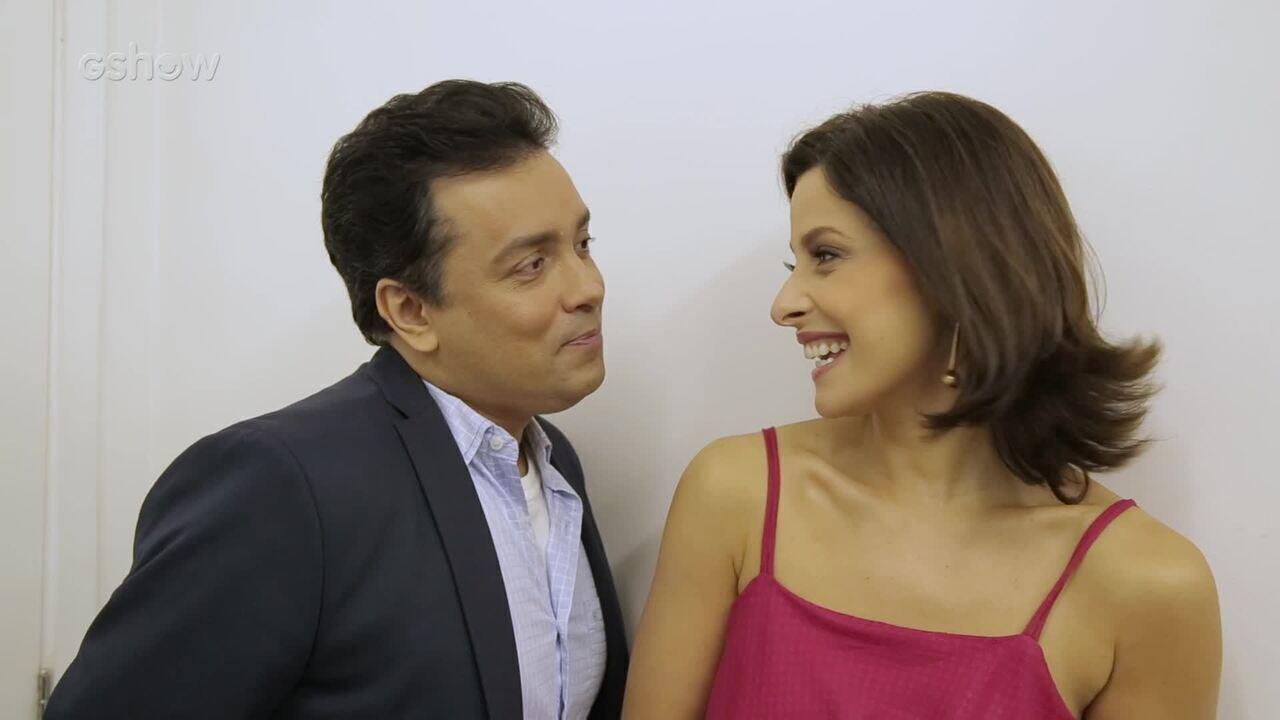 Bruna Spínola e Rodrigo Fagundes comentam primeiro beijo de Cíntia e Nelito