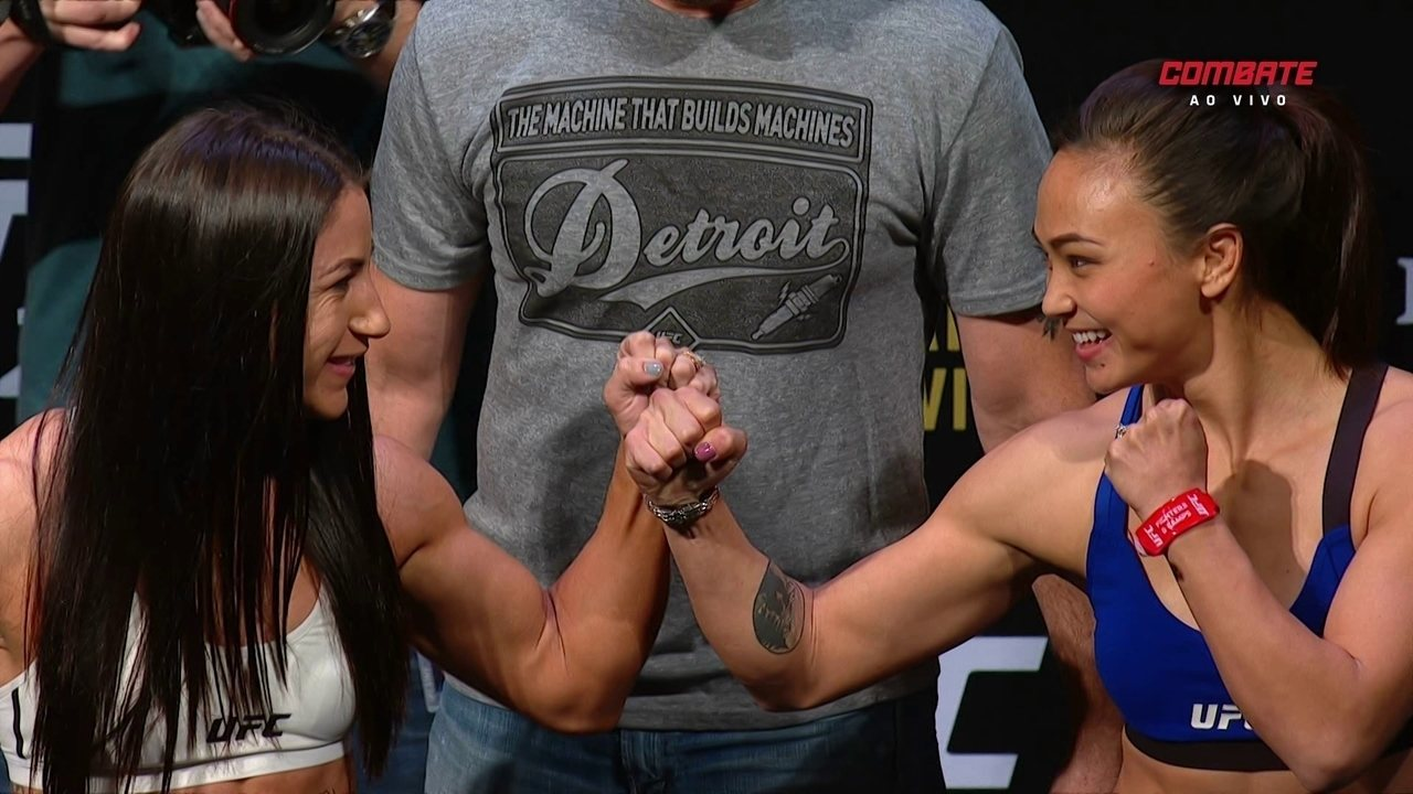MIchelle Waterson e Tecia Torres passam pela pesagem do UFC 218