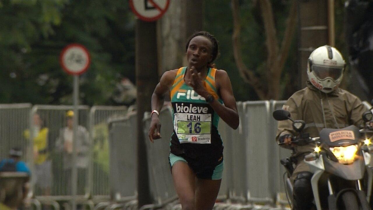 Leah Jerotich, do Quênia, chega em primeiro lugar na Volta Internacional da Pampulha
