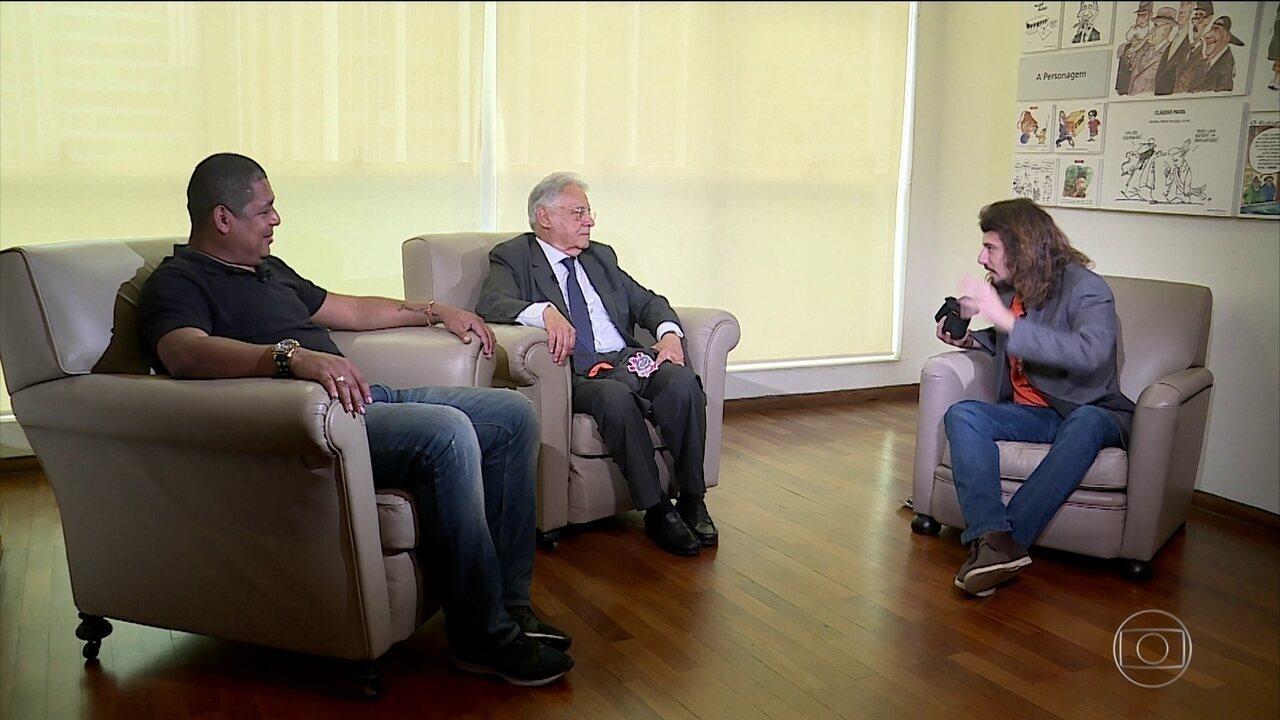 Vampeta e Fernando Henrique Cardoso se reencontram após cambalhota polêmica de 2002
