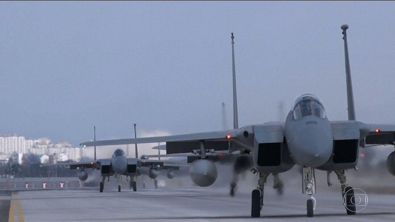 EUA e Coreia do Sul iniciam maior exercício militar conjunto da história