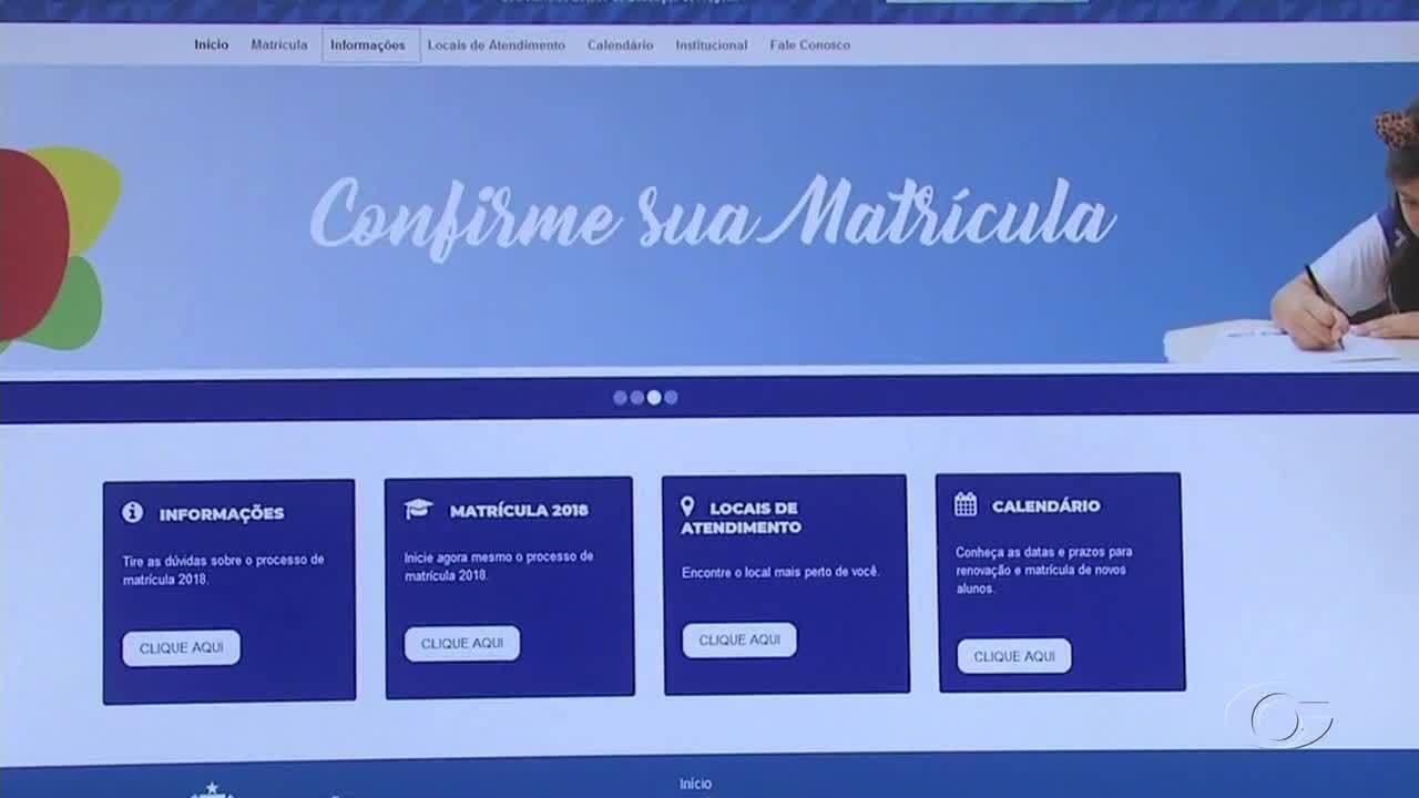 Começam as pré-matrículas online para novos alunos da rede estadual