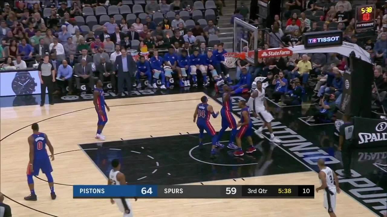 Melhores momentos: San Antonio Spurs 96 x 93 Detroit Pistons pela NBA