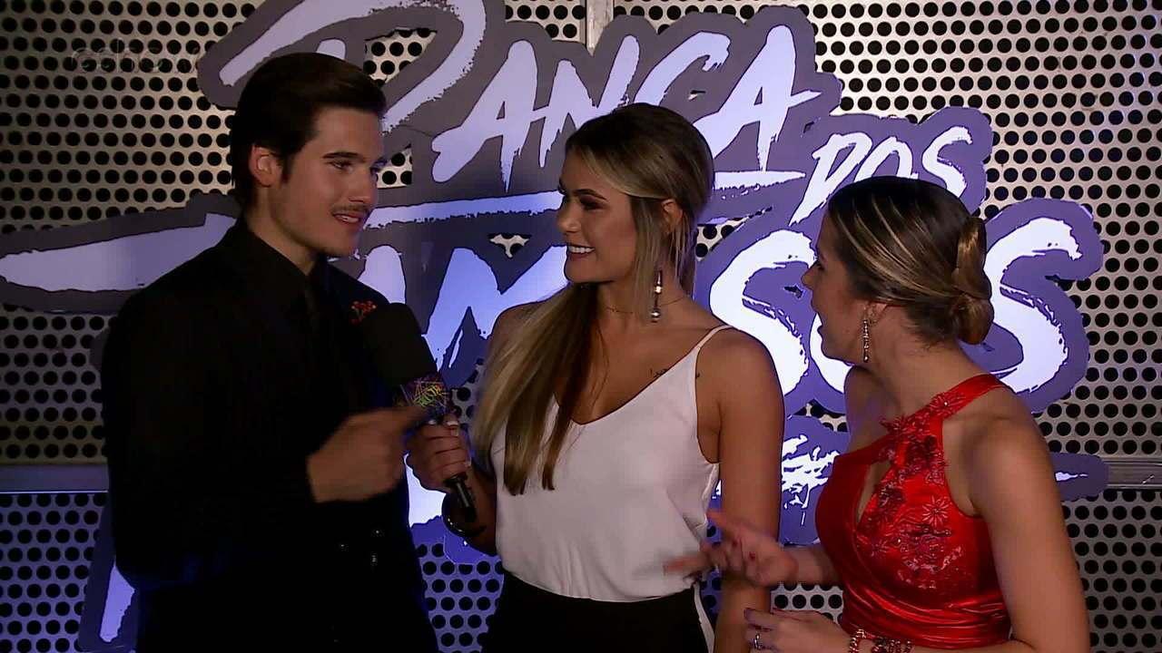 Lucas Veloso, Maria Joana e Nicolas Prattes comemoram classificação para a final