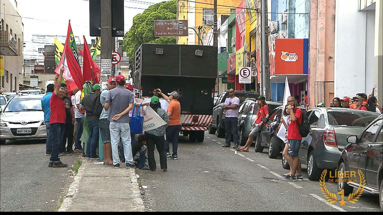 Manifestação em João Pessoa contra a Reforma da Previdência