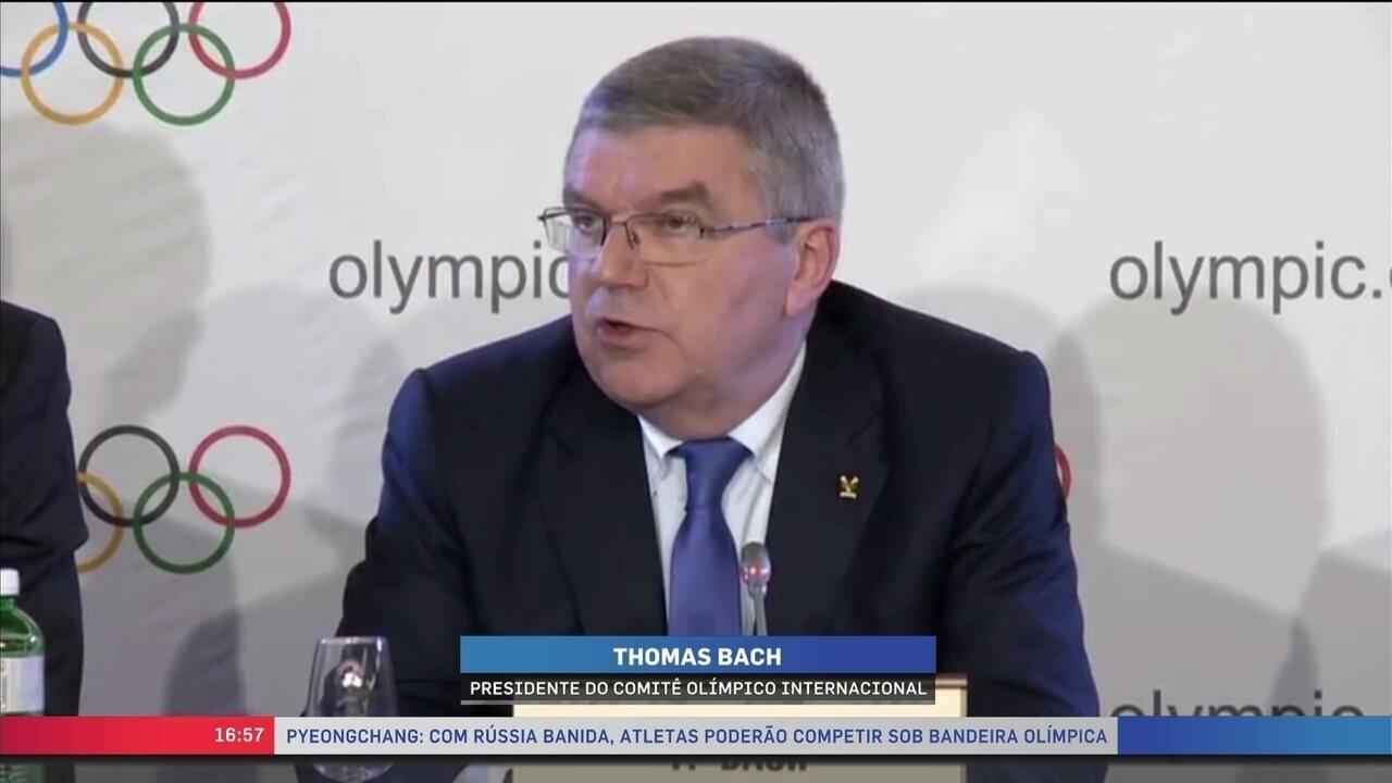 COI confirma exclusão da Rússia dos Jogos Olímpicos de Inverno de 2018 por doping