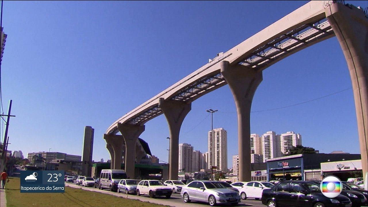 Governo busca empréstimos para concluir as obras do monotrilho na capital