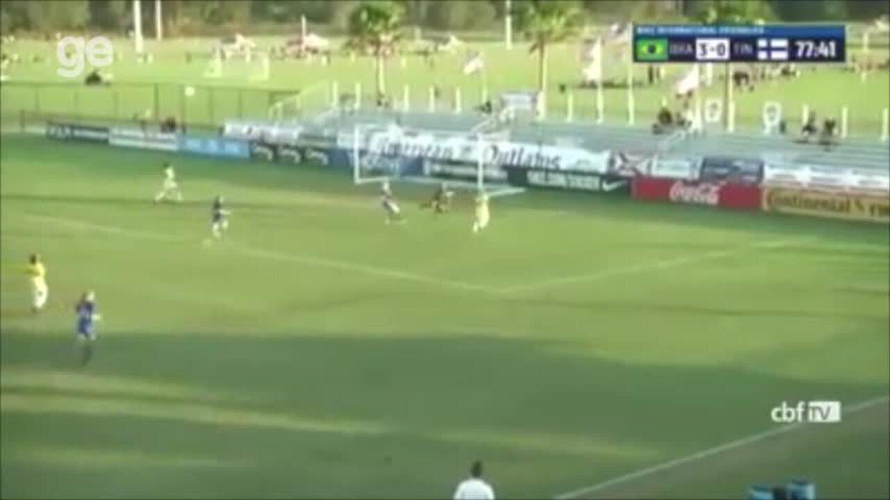 ASSISTA: com gol da piauiense Valéria, Brasil vence Finlândia por 4 a 0 em torneio sub-20 nos EUA